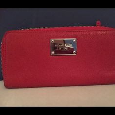 Michael Kors Wallet Red Michael Kors Wallet in excellent condition never used, new without tickets. Michael Kors Bags Wallets