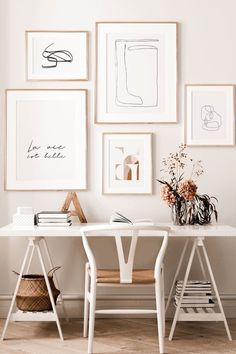 Home Wallpapers Cozy Home Office, Home Office Setup, Home Office Design, Office Inspo, Chic Office Decor, Office Designs, Office Art, Office Ideas, Workspace Inspiration