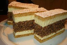 Ez nekem is tutira a kedvenceim közé kerülne! Hungarian Desserts, Hungarian Cake, Hungarian Recipes, Sweet Cookies, Cake Cookies, Sweet Recipes, Cake Recipes, No Bake Cake, Poppy Cake