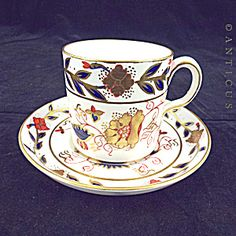 Royal Crown Derby Coffee Can And Saucer, Imari Colours.
