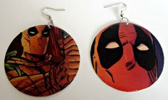 The Original Upcycled Vintage Comic Book Earrings by Customcomix, and theseee are cool too