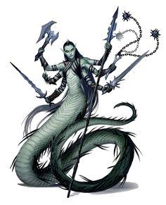 Marilith Demon, Odeenka - Pathfinder PFRPG DND D&D d20 fantasy