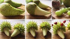 Hedgehog·Pear~Erizo·Pera