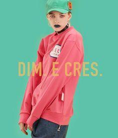 _ D I M .  E  C R E S . Spring 2016  _ Dim. Big logo sweatshirts Color. pink, red, white _ #DimECres by #CresEDim #16ss  #cirque #sweatshirts #스웻셔츠 #딤에크레스