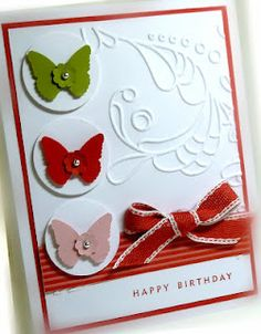 SU Elegant Lines E F, Beautiful Wings embosslit Card Making Inspiration, Making Ideas, Hand Made Greeting Cards, Cardmaking And Papercraft, Stamping Up Cards, Butterfly Cards, Scrapbook Cards, Scrapbooking, Happy Birthday Cards