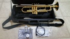 KING 601 TRUMPET IN HARDSHELL CASE with Cleaning and Maintenance  kit #KING KING 601 #TRUMPET