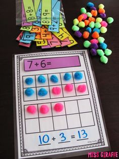 learning Making a 10 to Add is a great math strategy to help students mentally add bigger numbers. It's a skill I picked up somewhere along the way i. Fun Math, Math Activities, Ten Frame Activities, Addition Activities, Eureka Math, Math Intervention, Math Addition, Math Stations, Math Centers
