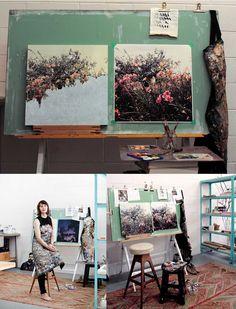 Studio of Sarah Hendy #painter #workspace #studio