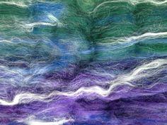 Sea Moss Smooth Spinning Batt  SM002  Merino / Baby by AlmaPark, $10.00