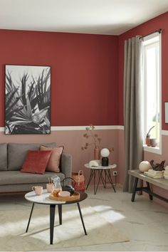 Interior Paint Colors For Living Room, Interior Wall Colors, Decor Home Living Room, Living Room Red, Bedroom Wall Colors, Bedroom Red, Interior Walls, Room Colors, Home Bedroom