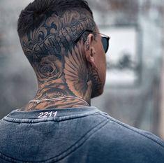 Dove Neck Tattoo, Dove Tattoos, Neck Tattoo For Guys, Head Tattoos, Body Art Tattoos, Tattoos For Guys, Wolf Tattoo Sleeve, Tattoo On, Sleeve Tattoos