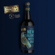 World's Postals: New Zealand, Tui on Packaging of the World - Creative Package Design Gallery 2d Design, Creative Design, Graphic Design, Design Agency, Branding Design, Chatham Islands, Graphic Projects, Wine Packaging, Design Department