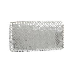 Women's J. Furmani 65190 Metal Mesh Envelope - Silver Clutches (€25) ❤ liked on Polyvore featuring bags, handbags, clutches, silver, flap purse, zipper flap purse, metal purse, evening hand bags and silver purse