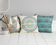 Cushions inspired by Mediterranean and Moorish design.