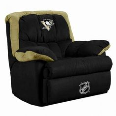 Pittsburgh Penguins Sports Chair    Must have this chair... I should get 4 of them, so the Bucholz can come over to watch hockey with us!!!