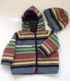 A lovely soft garter stitch jacket thats so easy to knit, I love to make my friends a little jacket for their babies, one thats easy to wear, wash, and dry in the lovely colours of Paintbox Yarns. this one comes in two sizes and has a matching hat for those extra windy/chilly days I bought 1 100g ball of the Paintbox Yarn and 8 10g mini balls in assorted shades but you could just use up oddments of DK/8ply left over from other projects