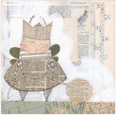 by Cori Dantin- pinned to show how newspaper can make interesting figures, not to copy her work, but it's cute! buy it!