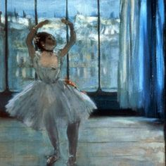 Edgar Degas - The Dancer at the Studio fine art preproduction . Explore our collection of Edgar Degas fine art prints, giclees, posters and hand crafted canvas products Edgar Degas, Painting Of Girl, Painting Prints, Fine Art Prints, Painting Art, Ballerine Degas, Monet, Oil On Canvas, Canvas Art