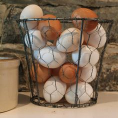 repurpose recycle reuse lampshade frame with chicken wire egg holder