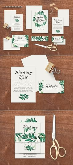 "Printable Wedding Invitation Suite ""The Birds Nest"" - Printable DIY Invite, Affordable Wedding Invitation 