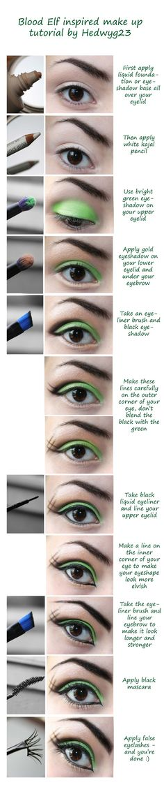 CM - BloodElf make up tutorial by *hedwyg23 on deviantART- definetlely for the cruise!