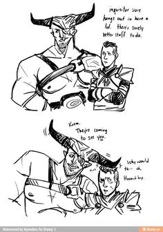 Krem & Iron Bull (i totally love Krem... i am guilty of going to hear his stories about the Chargers more than i probably should <3 ):