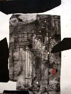Antoni Clavé - Aguafuerte Abstracto en Galería la Aurora