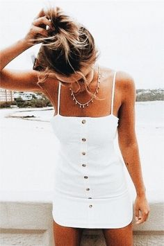 little white summer dress.GQ - Nice little white summer dress. -Nice little white summer dress.GQ - Nice little white summer dress. Cute Summer Outfits, Spring Outfits, Trendy Outfits, Cute Summer Clothes, Summer Outfits For Vacation, Summer Holiday Outfits, Holiday Style, Holiday Fashion, Summer Clothing
