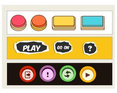 Get learners in the e-learning game with these arcade-inspired buttons.