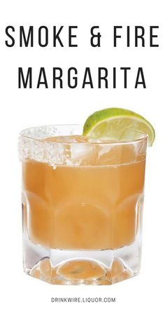 Smoke & Fire Margarita - If you are looking for an agave centered cocktail that is authentic, then this this the drink for you. Made with chili liqueur, mezcal and tequila, this is no regular margarita! Margarita Cocktail, Cocktail Drinks, Fun Drinks, Yummy Drinks, Cocktail Recipes, Beverages, Mezcal Margarita, Mixed Drinks, Smoked Cocktails