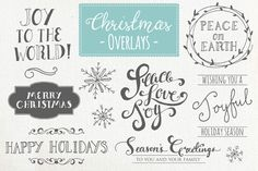 Christmas Overlays Set 1 - Vector by The Pen & Brush on Creative Market