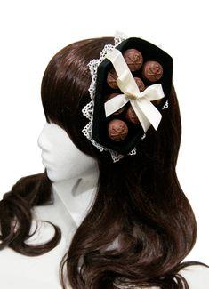 Deadly Poisoned Chocolates Black Velvet Coffin Box Hat