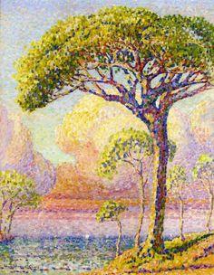 Un pin, huile sur toile de Henri Edmond Cross (1856-1910, France)