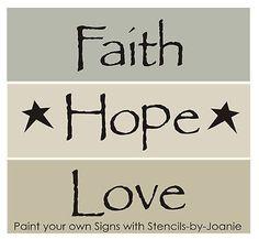 Joanie Stencil Farmhouse Country Primitive Family Kitchen Homestead Art Signs