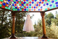 Monique Lhuillier Bridal Gown with views of the Marrakech Palmeraie