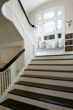 staircase and window seat