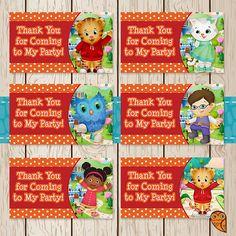 Printable Daniel Tiger Birthday Goody Bag by BrightOwlCreatives, $2.00