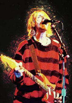 kurt cobain, nirvana, rock, music, grunge, krist novoselic, aberdeen, seattle, generation x, drugs, heroin, courtney love, fender stratocaster, alternative, fecal matter, melvins, foo fighters, sweet 75, no wto combo, eyes adrift, dave grohl, rock and roll, pearl jam, wall art, vector, digital painting, illustration, drawing, poster, decorative, decoration, home decoration, living room, bedroom, cafe, bar, restaurant, bleach, nevermind, in utero, cool, mtv, pat smear, concert, 90's…