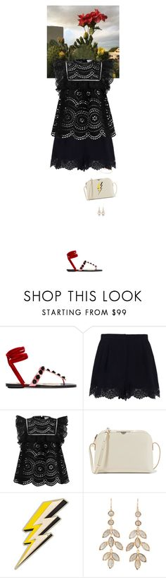 """""""Outfit of the Day"""" by wizmurphy ❤ liked on Polyvore featuring Attico, Zimmermann, The Row, Anya Hindmarch, Irene Neuwirth, Monica Vinader, lace and ootd"""