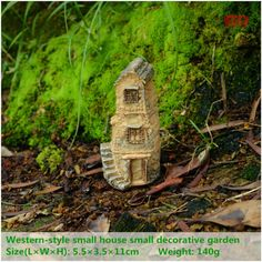 ED original design resin house decoration micro landscape mini garden stone furnishing articles folk art miniature figurine