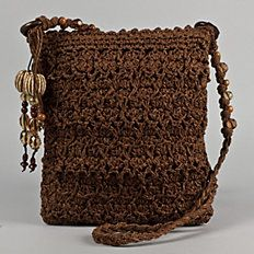 Crocheted Cross Body Handbag