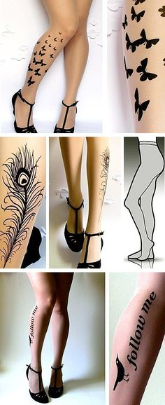 Better than a tattoo! Tattoo stockings! You can change it up! Oh yeah, and I love the shoes too!
