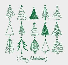 More Christmas tree sketches. Easy and fun addition to this year's Christmas card envelopes! Christmas Doodles, Noel Christmas, Winter Christmas, All Things Christmas, Christmas Ornaments, Green Christmas, Christmas Tree Sketch, Merry Christmas Vector, Painted Christmas Tree