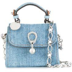 Ermanno Scervino denim crossbody bag ($545) ❤ liked on Polyvore featuring bags, handbags, shoulder bags, blue, blue crossbody handbag, crossbody shoulder bag, denim shoulder bag, crossbody purses and cross body