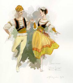 The Neapolitans, costume design by Robert Perdziola ♥ Wonderful! www.thewonderfulworldofdance.com #ballet #dance