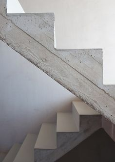 :: STAIRS :: simple concrete steel stair detail, adore the work of Britt Crepain & Stefan Spaens (previously CSO ontwerpers, currently CSD Architecten ) Photo Credit : Luc Roymans Photography Stair Steps, Stair Railing, Interior Stairs, Interior And Exterior, Interior Design, Architecture Details, Interior Architecture, Installation Architecture, Concrete Stairs