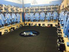Another hockey locker room by PlayerStall.  customsportslockers.com