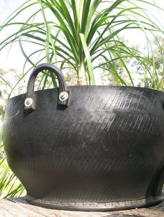 These trugs are an innovative sustainable container ideal for planting. They're made from recycled tyres, saving them from landfill. In AUS they're available from ubeautypotsandplants.com.au