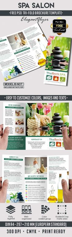 Hair Loss Treatment Centre Tri Fold Brochure Template  Salon