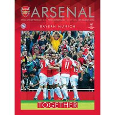 Arsenal v Bayern Munich. Tuesday, October 20, 2015. Official Matchday programme…